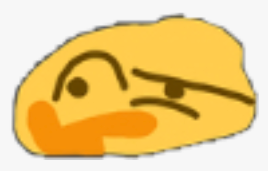 #meme #thenk #think #emoji #emojimeme #emojiface #hmm - Distorted Hmm Emoji, HD Png Download, Free Download