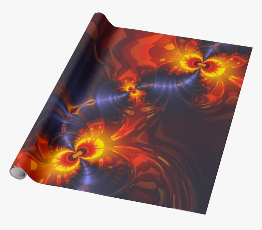 Butterfly Eyes, Abstract Gold Violet Wings Fractal - Christmas Duck Wrapping Paper, HD Png Download, Free Download