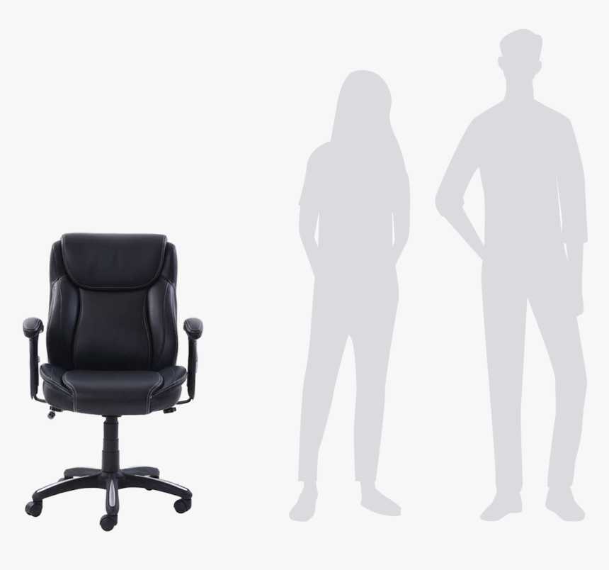 Transparent Person Sitting In Chair Png - Office Chair, Png Download, Free Download