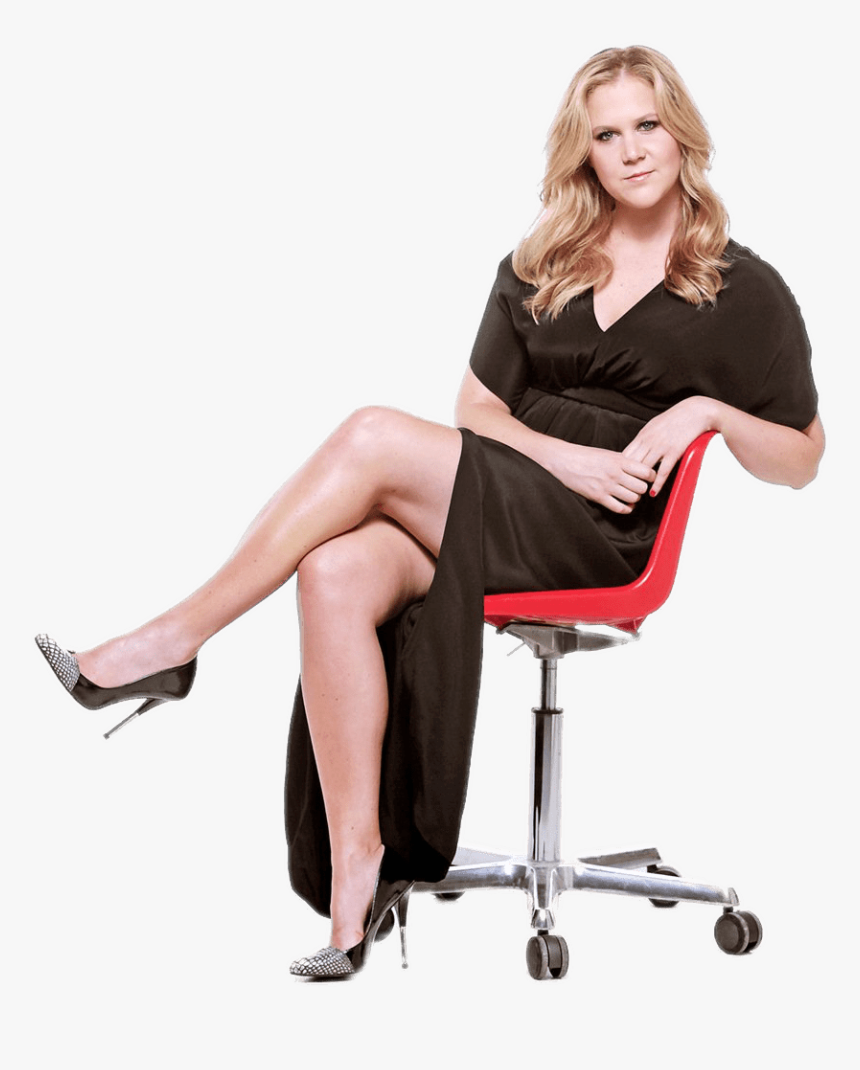 Amy Schumer Sitting On Office Chair - Amy Schumers High Heels, HD Png Download, Free Download