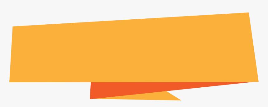 Orange Banner Origami, HD Png Download, Free Download