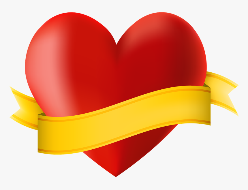 Vacation, Icon, Heart, Ribbon, Banner, Copy Space - Heart With Ribbon Banner, HD Png Download, Free Download