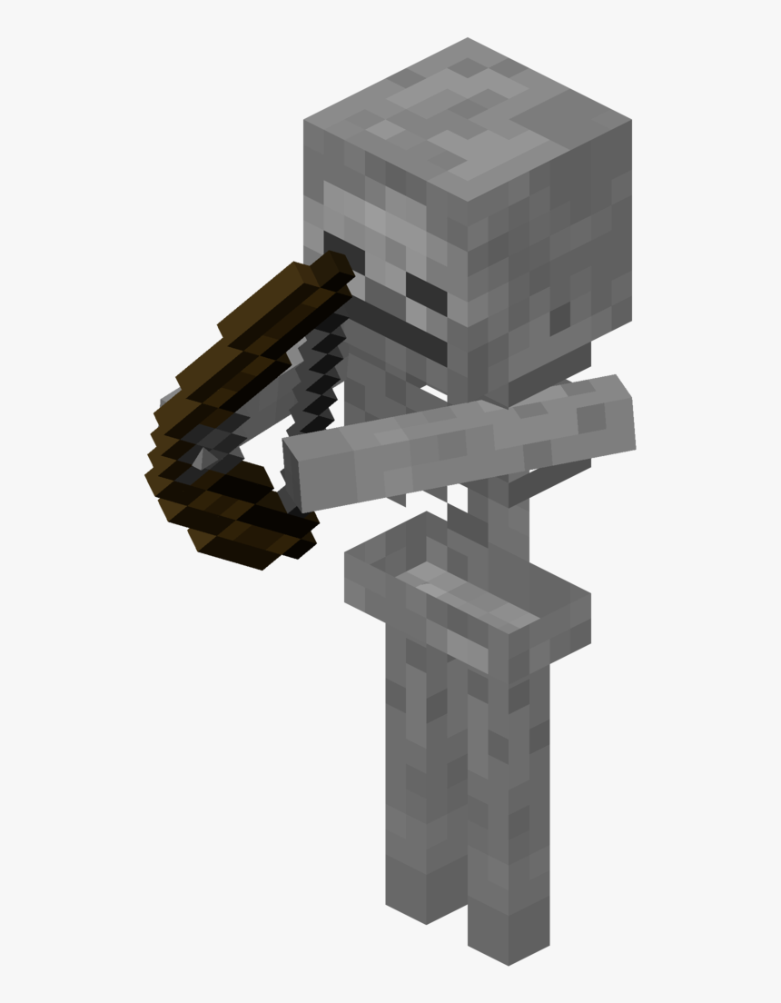 Minecraft Spider Skeleton Mob Herobrine - Minecraft Skeleton With Bow, HD Png Download, Free Download