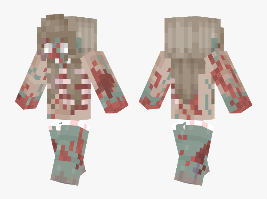Transparent Minecraft Zombie Png - Minecraft Detailed Girl Skin, Png Download, Free Download