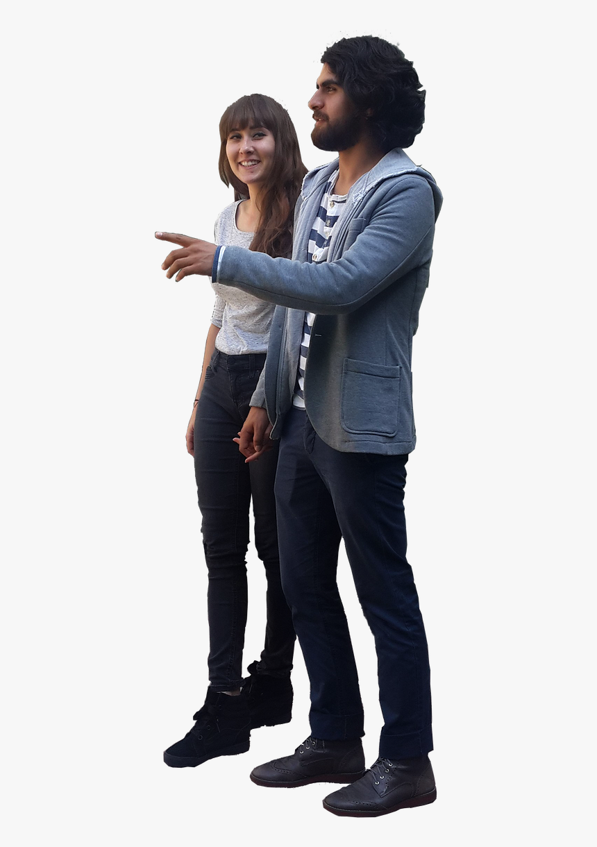 People Pointing Png - People Standing And Pointing Png, Transparent Png, Free Download