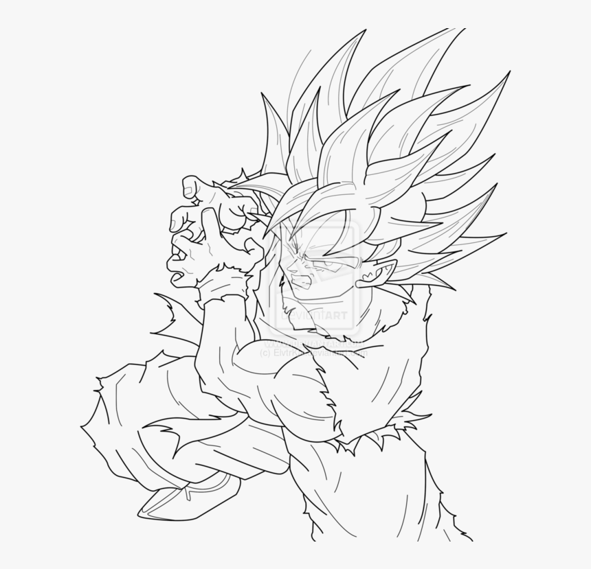 Goku Kamehameha Coloring Pages - Super Saiyan Dragon Ball ...