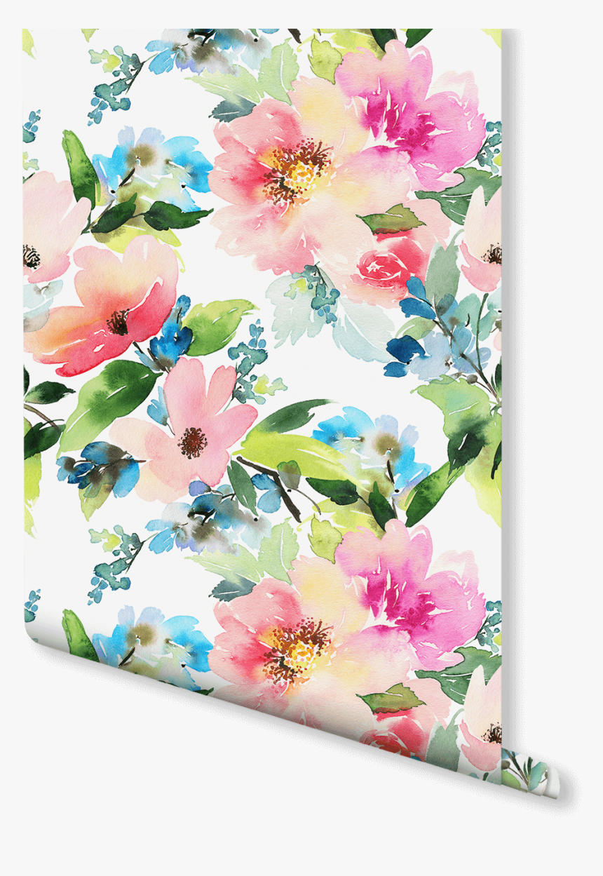 Summer Floral Wallpaper Pink Watercolor Floral Wallpaper House