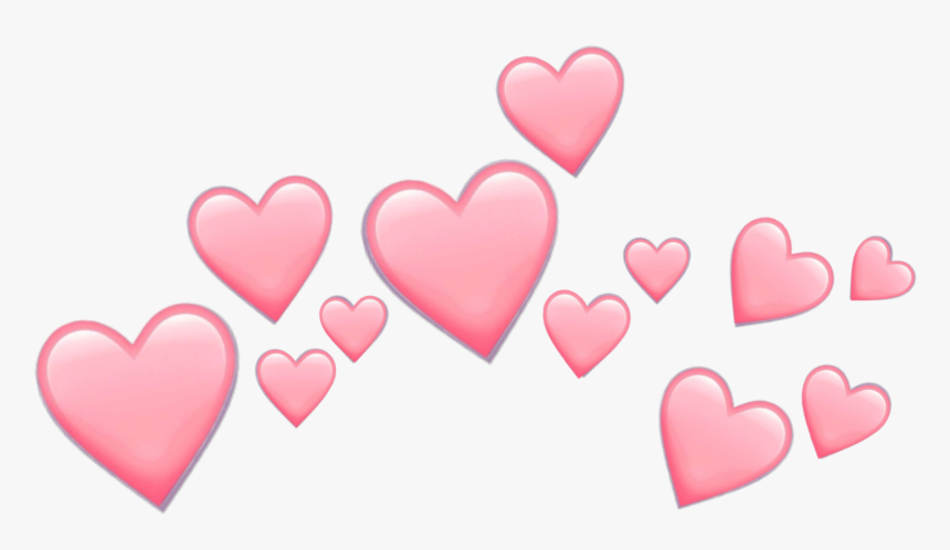 #pink #hearts #emoji #pinkemoji #heart #heartemoji - Transparent Pink Heart Crown, HD Png Download, Free Download