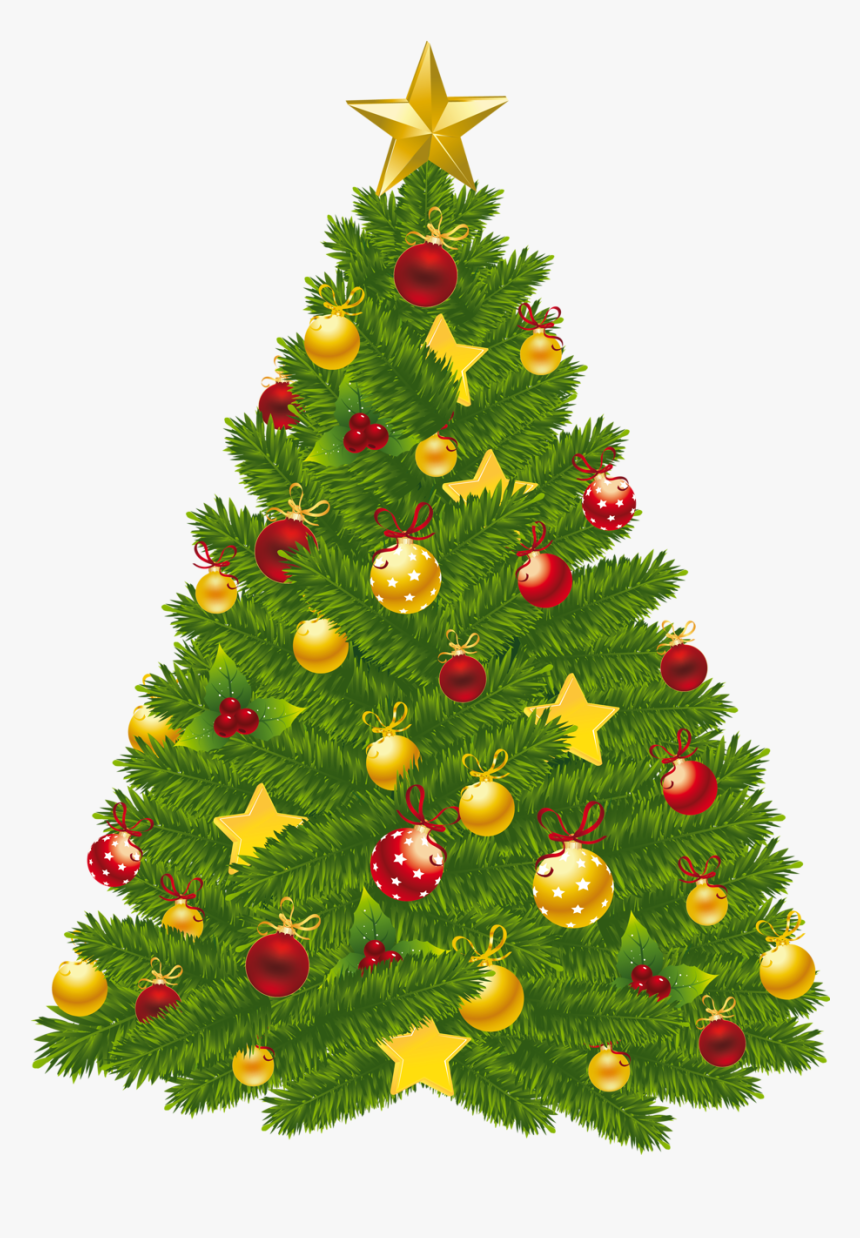 Christmas Tree Clipart With Transparent Background, HD Png Download, Free Download