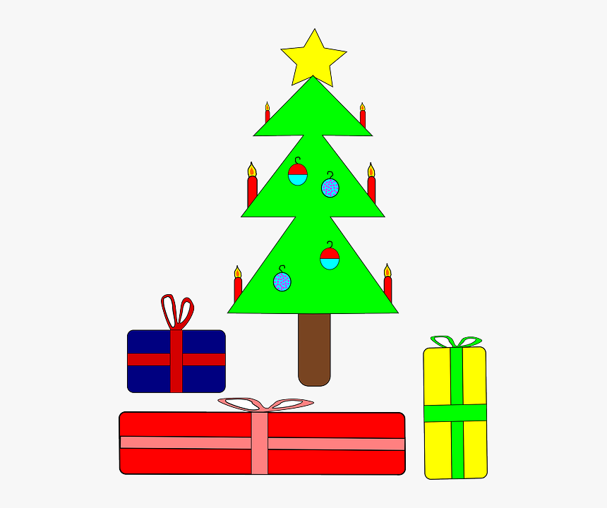 Presents Tree, Recreation, Christmas, Holiday, Presents - Christmas Tree Clip Art, HD Png Download, Free Download