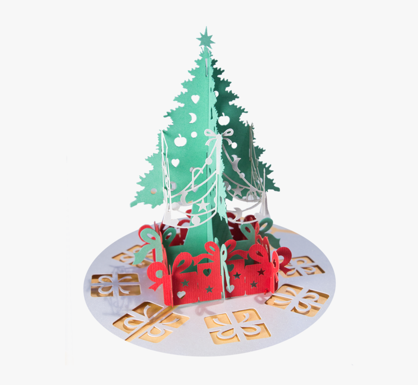 Christmas Tree With Presents - Christmas Tree, HD Png Download, Free Download