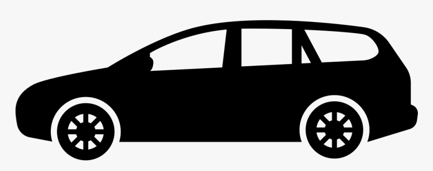 Car Png Black And White Side View - Sedan Car Icon Png, Transparent Png, Free Download
