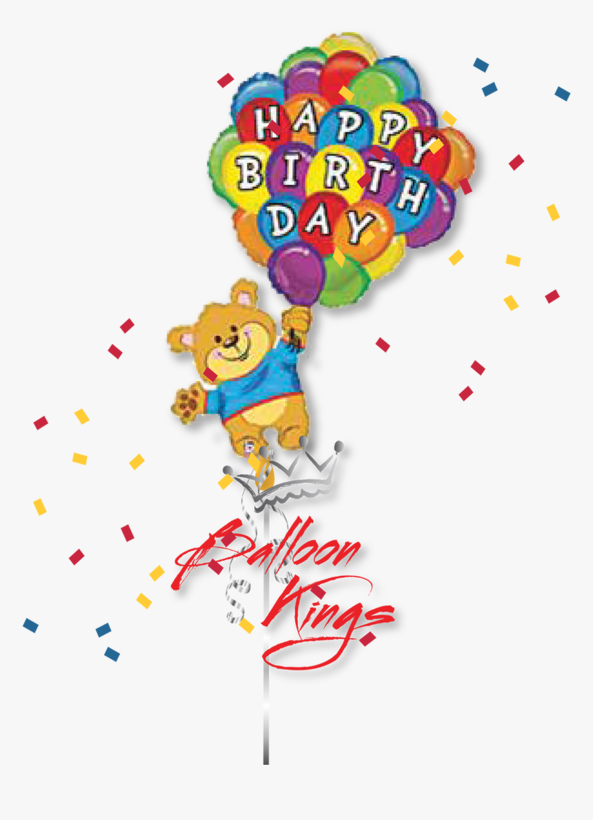 Happy Birthday Teddy Bear - Teddy Bear Happy Birthday Balloon, HD Png Download, Free Download