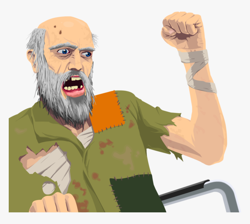 Happy Wheels Irresponsible Da Old Man From Happy Wheels Hd Png Download Kindpng