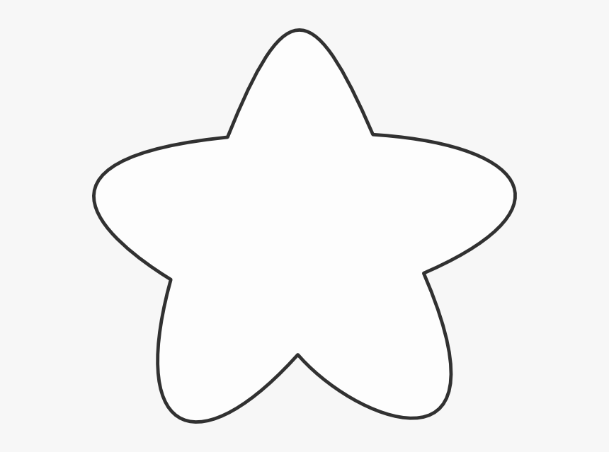 White Star Outline Clip Art At Clker - Rounded Edges Star Transparent, HD Png Download, Free Download