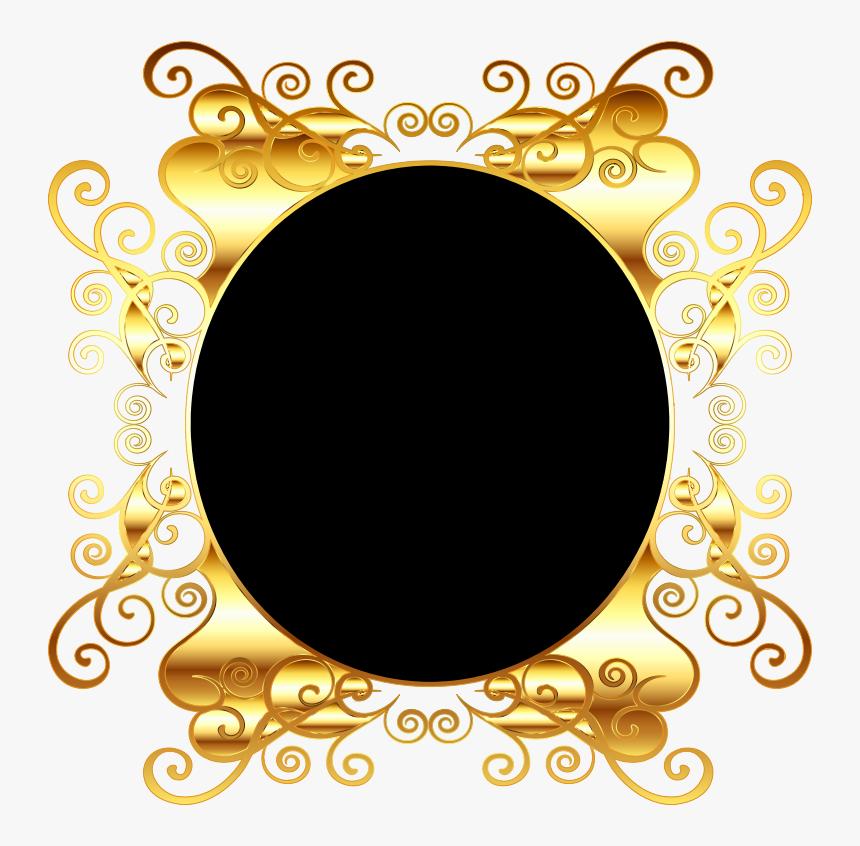 Oval Gold Frame Png Png Medium - Golden Frame Background Png, Transparent Png, Free Download