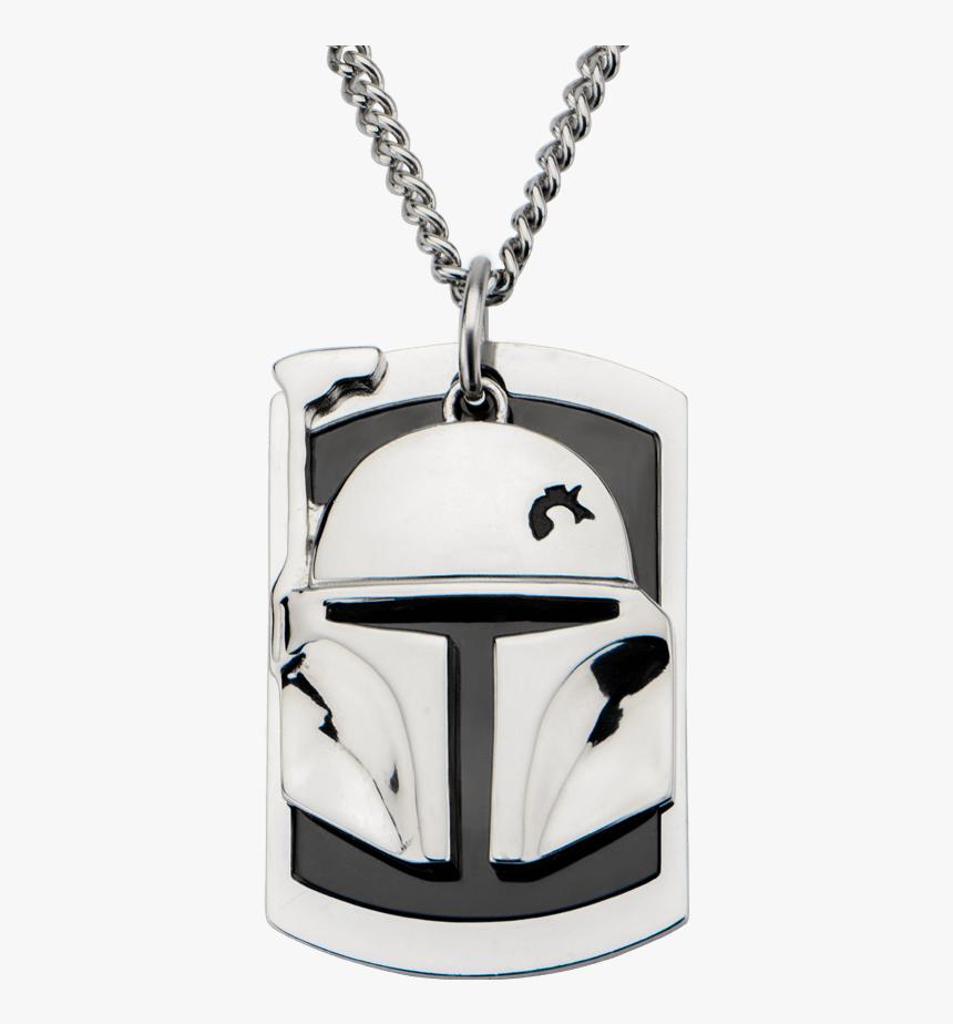 Star Wars Necklace Dog Tag Boba Fett , Png Download - Dog Tag, Transparent Png, Free Download