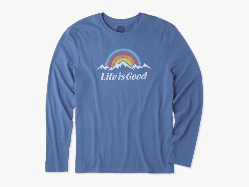 """Men""""s Snowy Mountains Long Sleeve Smooth Tee - Long-sleeved T-shirt, HD Png Download, Free Download"""