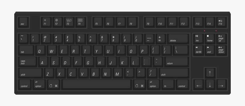 Keyboard Clipart Qwerty Keyboard Hd Png Download Kindpng