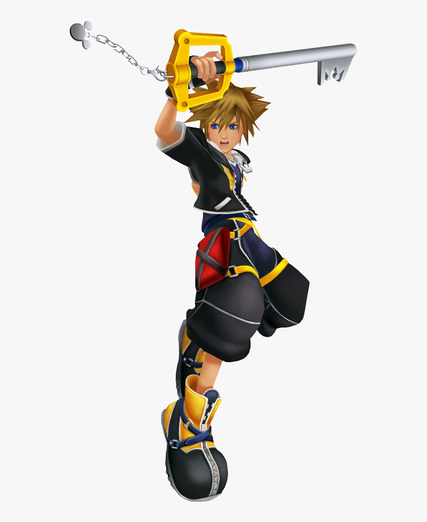 Kingdom Hearts 2 Sora Png - Sora Kingdom Hearts Fighting, Transparent Png, Free Download