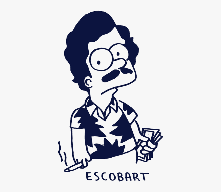 Bart Simpson Pablo Escobar, HD Png Download, Free Download