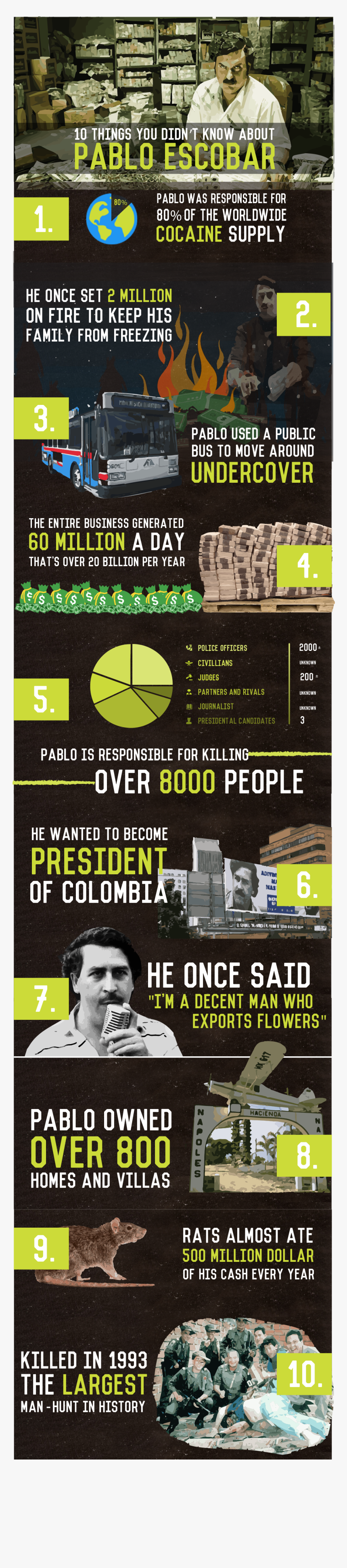 Infographic About Pablo Escobar, HD Png Download, Free Download