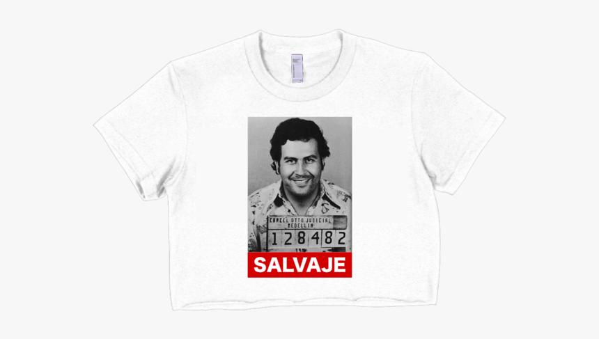 Salvaje Crop Top White - Active Shirt, HD Png Download, Free Download