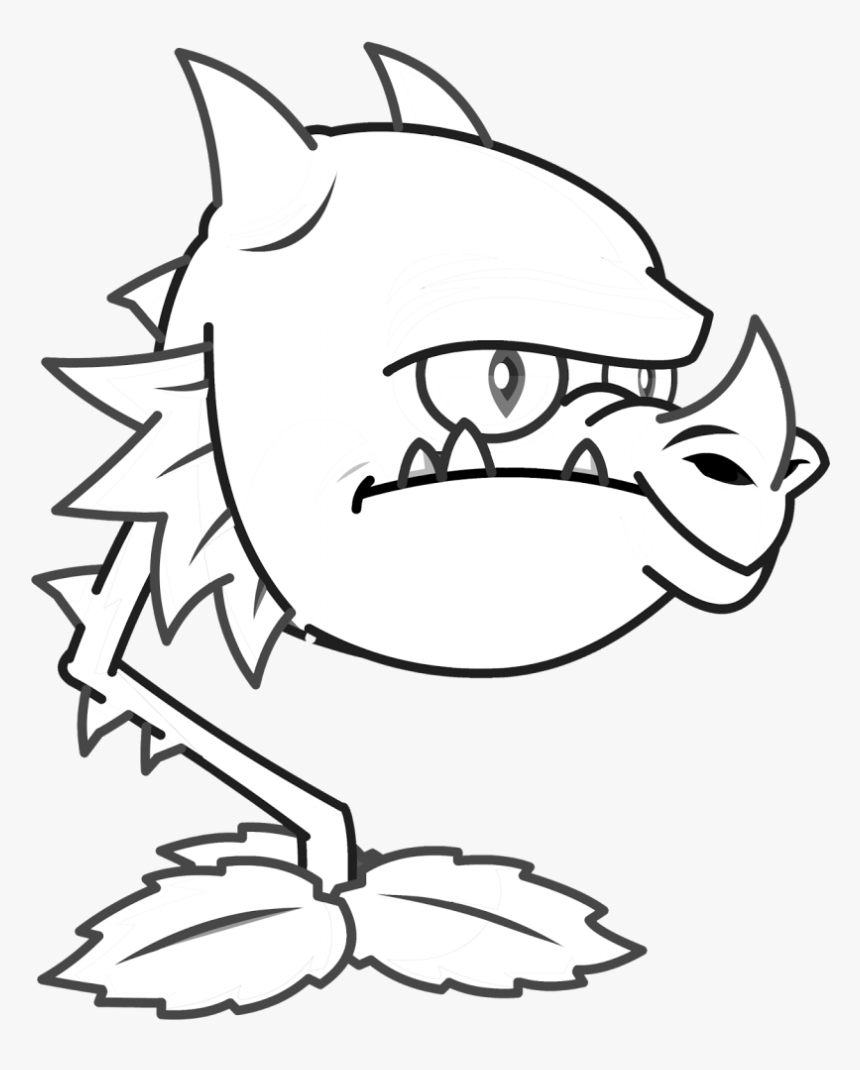 Dragon Plants Vs Zombies Coloring Pages Plants Vs Zombies Garden Warfare 2 Drawing Hd Png Download Kindpng