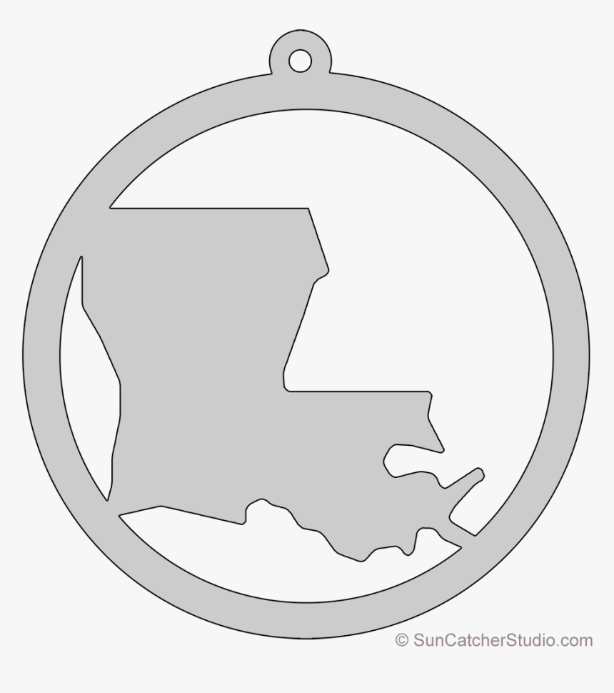 Louisiana Map Circle Free Scroll Saw Pattern Shape - Georgia Map Outline Ornament Scroll Saw Pattern, HD Png Download, Free Download