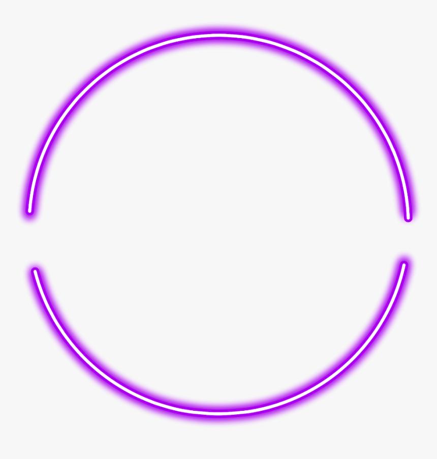 #neon #round#purple #freetoedit #circle #frame #border - Purple Neon Circle Png, Transparent Png, Free Download