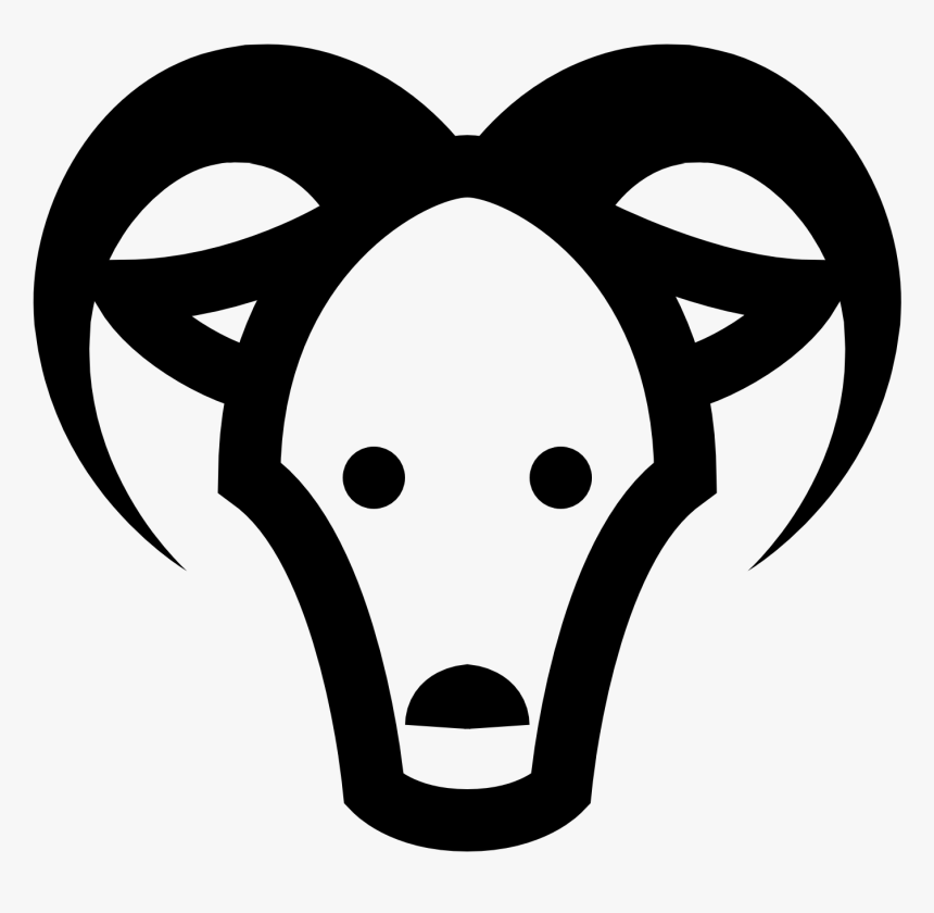 Goats Head Clipart Icon - Cartoon Goat Head Png, Transparent Png, Free Download
