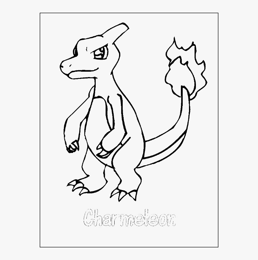 Kleurplaten Pokemon Charmeleon - kleurplatenl.com