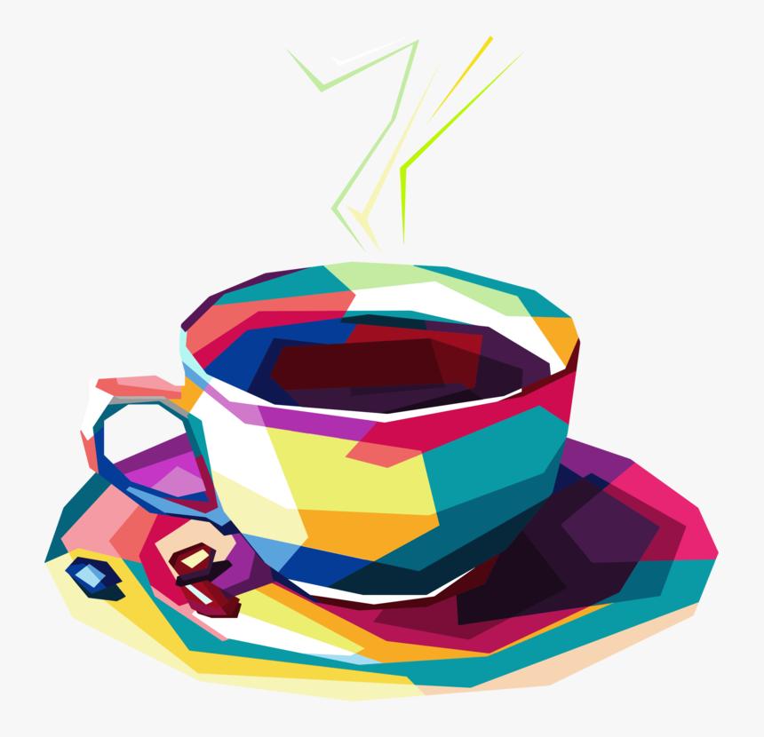 Geometric Coffee Pop Art By Rizkydwi123 - Pop Art Coffee, HD Png Download, Free Download