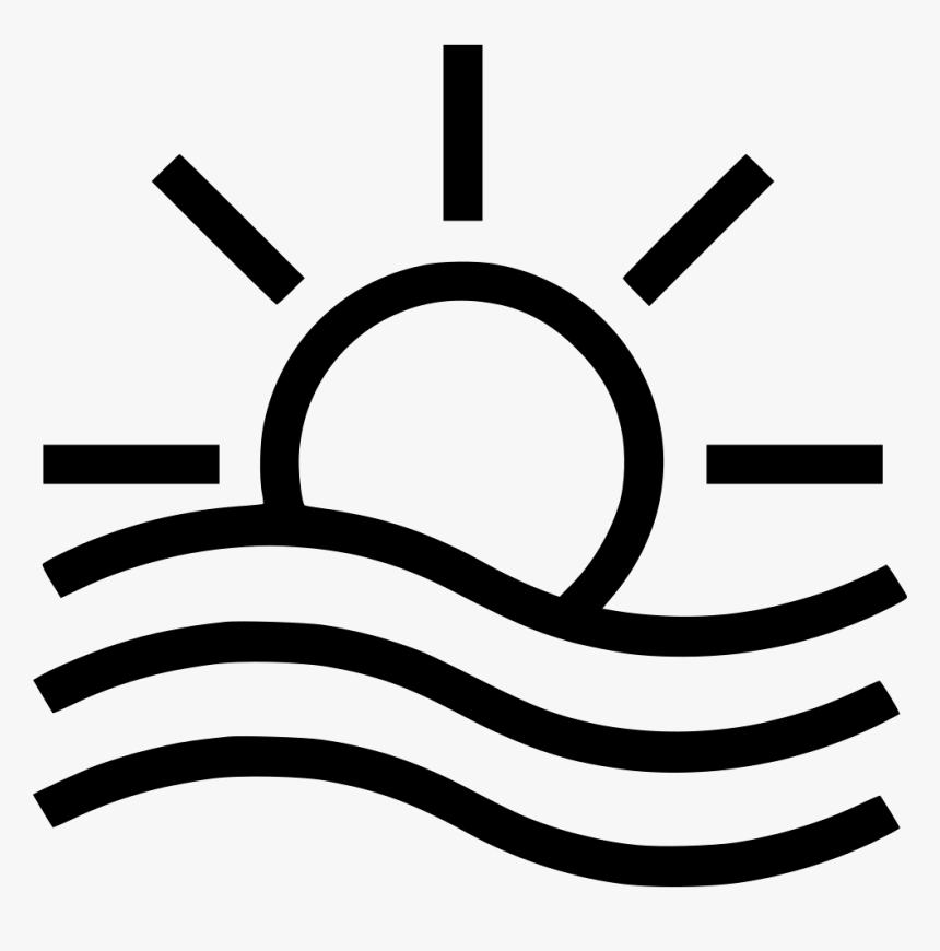 Light Fog - Noun Project Sunset, HD Png Download, Free Download