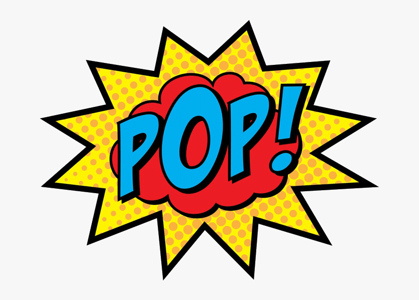 Clip Art Comic Pop Art - Pop Art Wow Png, Transparent Png, Free Download