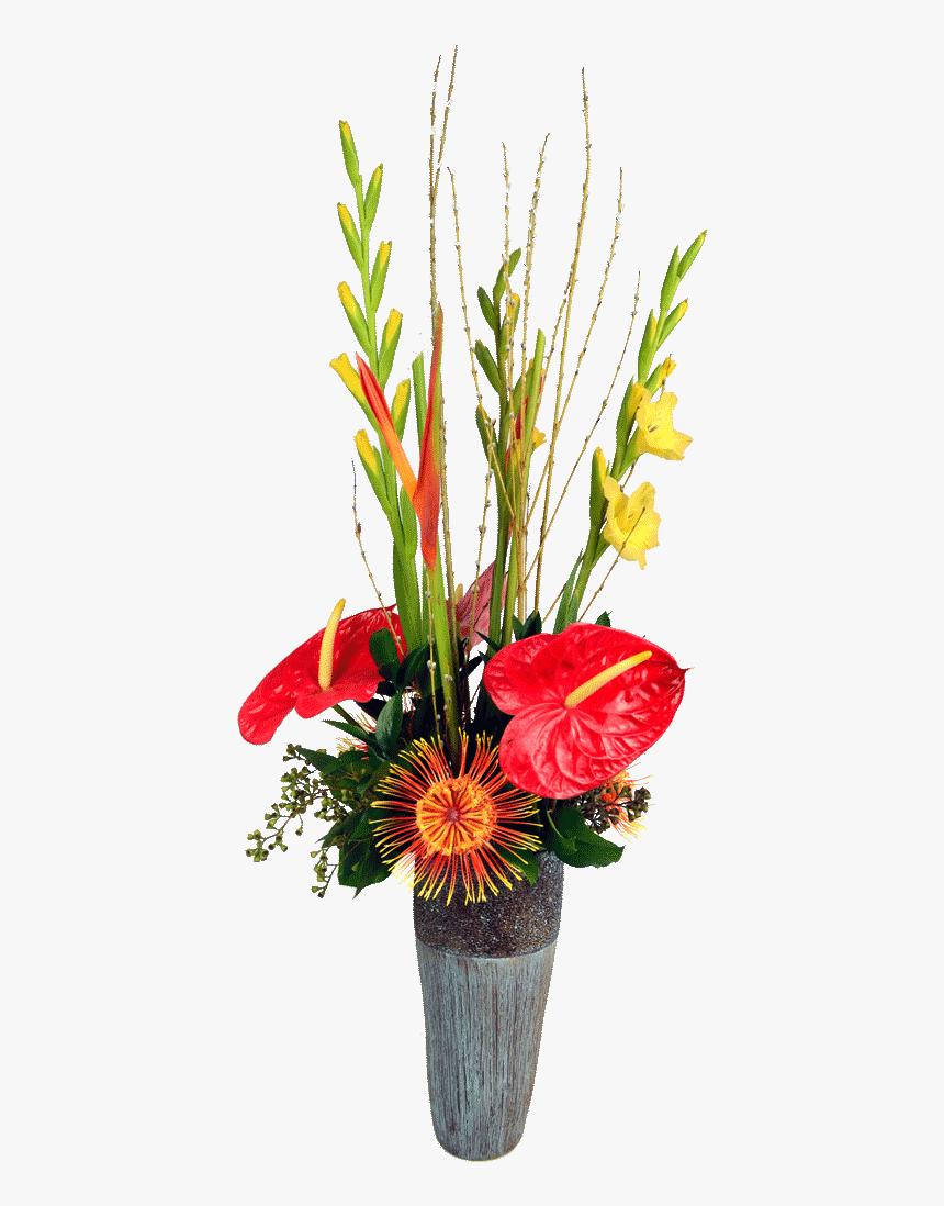 Tropical Flower Vase Png - Portable Network Graphics, Transparent Png, Free Download