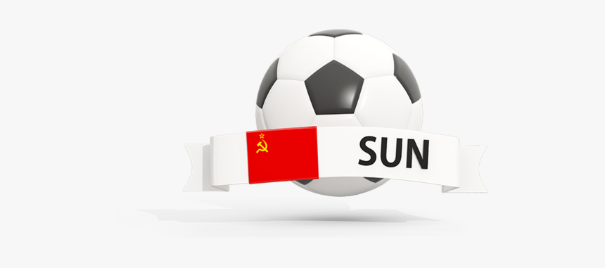 Football With Banner - Football Icon Illustration Of Flag Of Thailand, HD Png Download, Free Download