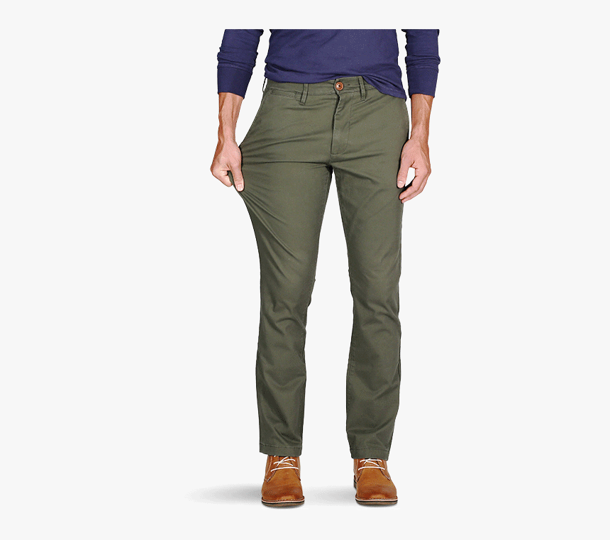"""Men""""s Olive Chino Pants - Trousers, HD Png Download, Free Download"""