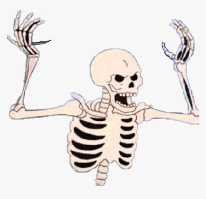 #spooky #skeleton #halloween #aesthetic #scary #monster - Spooky Skeleton, HD Png Download, Free Download