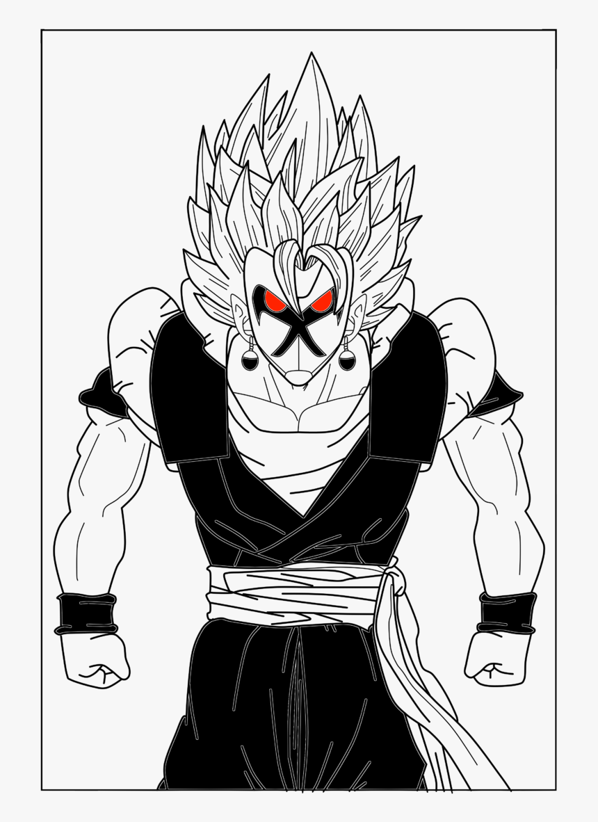 The Evil Ultimate Fusion Ssj2 - Cartoon, HD Png Download, Free Download