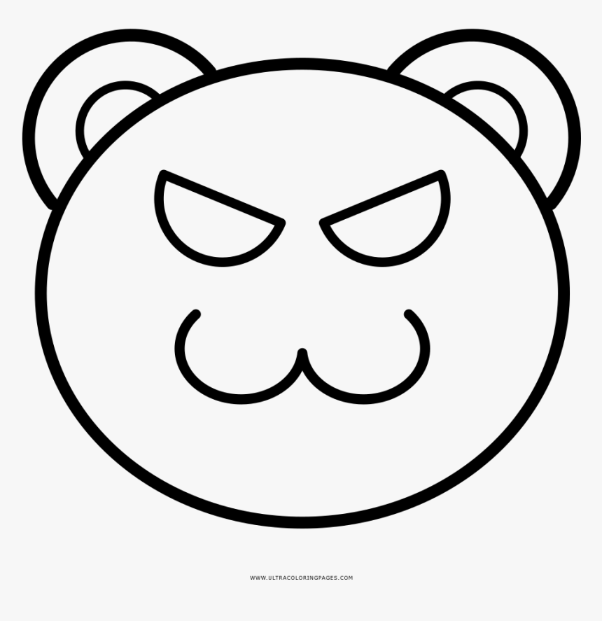 Evil Coloring Page - Cat Outline Face Clipart, HD Png Download, Free Download