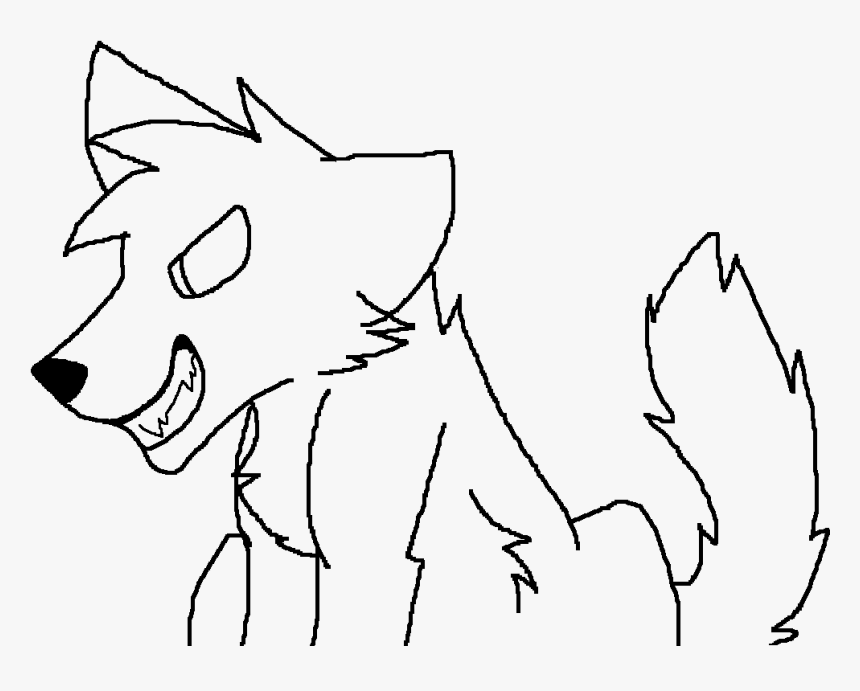 Evil Wolf Lineart By Zoey - Line Art, HD Png Download, Free Download