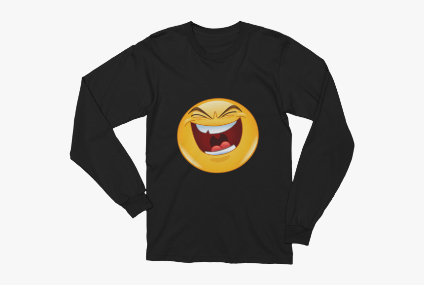 Unisex Evil Laugh Emoji Long Sleeve T-shirt - T Shirt For 80 Year Old, HD Png Download, Free Download