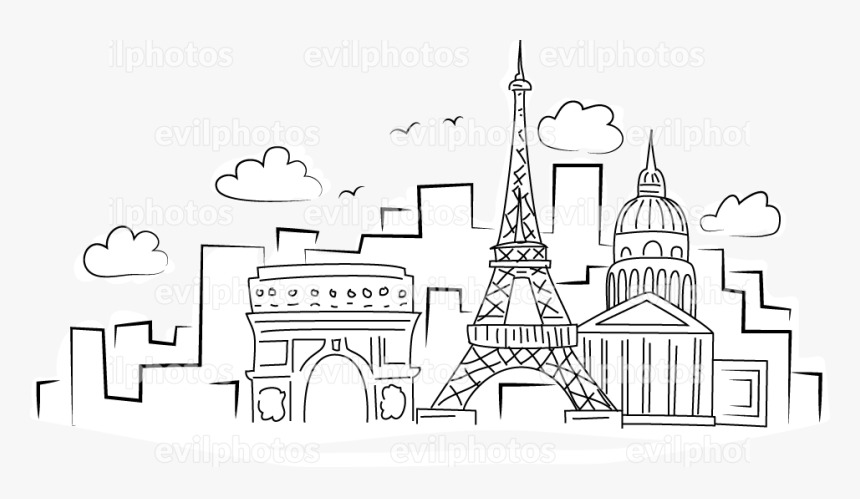 Cityscape Drawing Vector And Stock Photo - Illustration, HD Png Download, Free Download