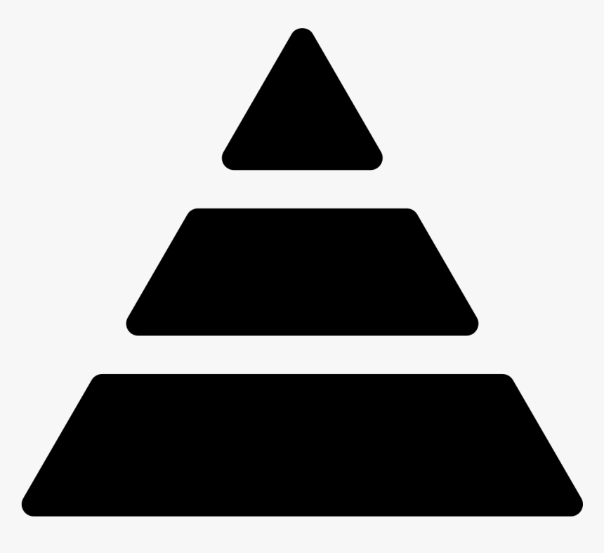 Three-tier Pyramid - Pyramid Icon Png, Transparent Png, Free Download