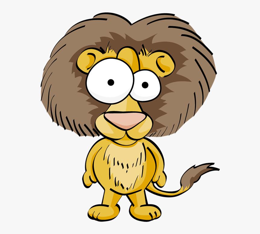 Cartoon Animal Eyes Png Download - Lion Funny Png, Transparent Png, Free Download