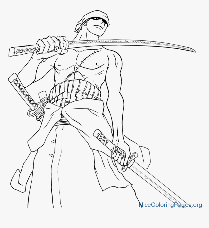 Unconditional Zoro Coloring Pages Imagination - Sketch, HD Png Download, Free Download