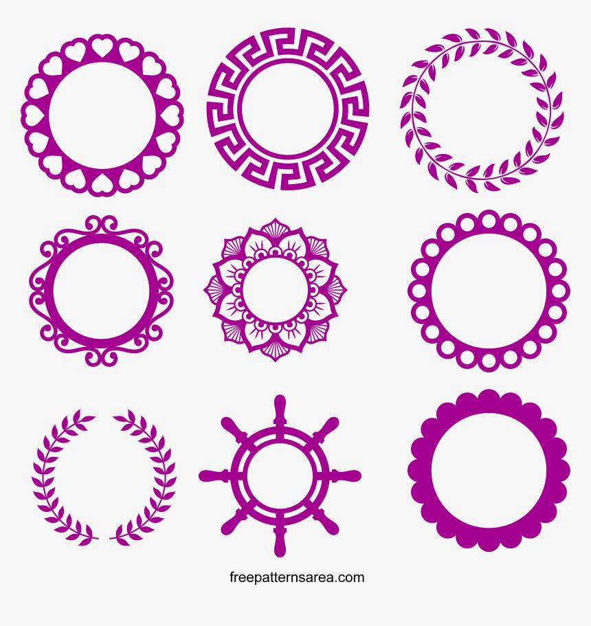 Circle Svg Frame Monogram Frames Svg Free Hd Png Download Kindpng