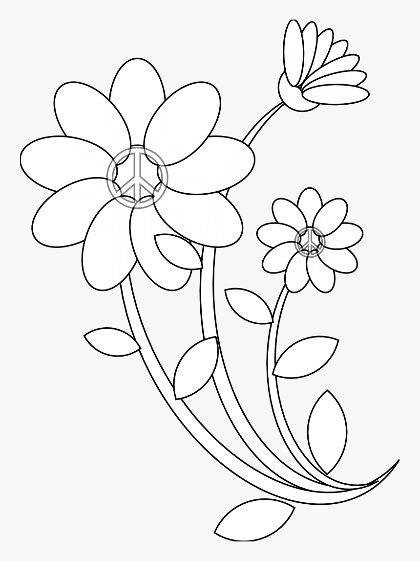 Drawing Flowers Art Drawing All Flower Hd Png Download Kindpng