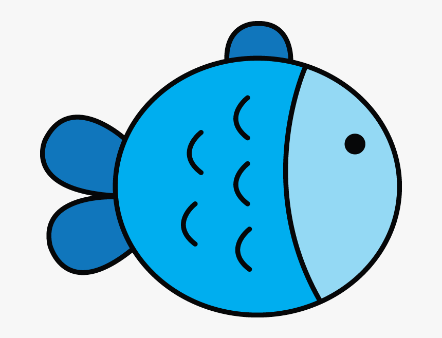 Cute Simple Fish Cartoon Hd Png Download Kindpng